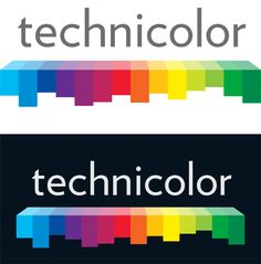 The new logo for Technicolor, designed by their in-house Marketing Branding team and advertising agency Gyro:HSR.