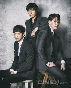 Kang Dong Won & Lee Byung Hun & Kim Woo Bin - Cine21 Magazine vol. 1085