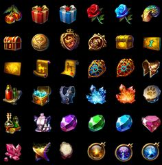 fantasy chest gift gem badge icon