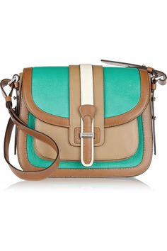 Michael Kors | Gia Saddle color-block leather shoulder bag