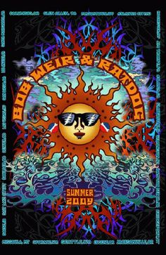 Original tour poster for Bob Weir and Ratdog of the Grateful Dead for the Summer Tour in 2009.  13 x 19 inches. This is a 3D/animated lenticular. It must be seen to be believed! Artwork by Mike DuBois.
