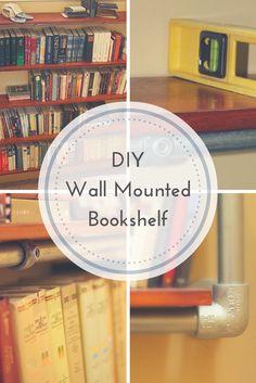 DIY Wall Mounted Bookshelf http://www.simplifiedbuilding.com/blog/build-a-wall-mounted-bookshelf/ #DIY #bookshelf