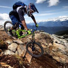 Biking the Top of the World trail in #Whistler. Photo by Riley Gibson-Graf via @kylejam88 #explorebc #whistlerbikepark
