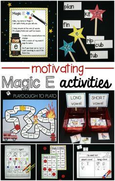 Lots of Motivating Magic E Activities! Awesome CVCe ideas for kindergarten or first grade.