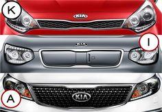 #KiaRätsel: Na, erkennt ihr unsere drei #Kia Modelle auch mit diesem Ausschnitt der berühmten #Tigernose? VG, ^A