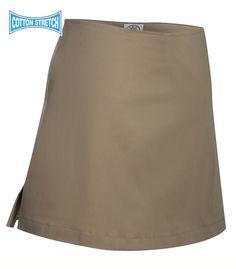Sarah Beige Skort with side pocket. Crew Uniform and Yacht Uniforms. Skort, Cheer Skirts, Sailing, Mini Skirts, Beige, Pocket, Interior, How To Wear, Cotton