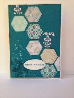 Winter Frost Hexagon Christmas Card