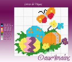 Easter hama perler pattern by aux4mains
