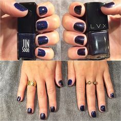all dark blues for this week's mani