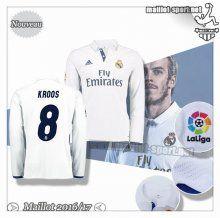 Maillots-Sport: Créer Un Maillot Foot Real Madrid Manche Longue Kroos 8 Domicile 2016 2017