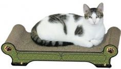 Scratch N Shapes Lounger - Peacock Design Our great looking corrugated honeycomb sculptures provide a great number of benefits for your cat.$29.95