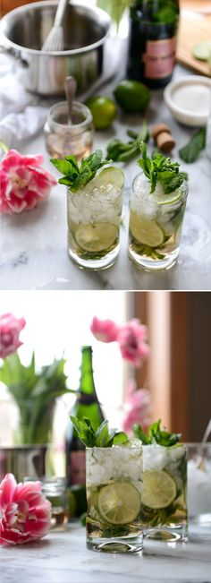 Champagne Mojitos by @howsweeteats I howsweeteats.com