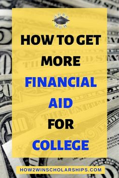 How to get more financial aid for college - Use these solid tips from Fin Aid counselor Jodi Okun.  #college #scholarships #ScholarshipMom #scholarshiptips #payingforcollege #collegecash #education #university #highered #scholarship #highschool #moneyforschool #collegebound #debtfree #FinancialAid #financialaidforcollege #teens