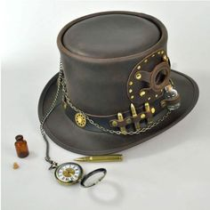 available at  VillageHatShop Time Port Top Hat by Head n Home Steampunk Top f0595eaf898
