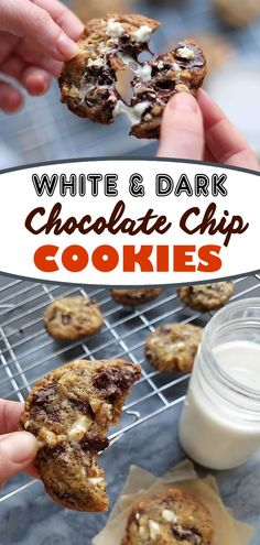 Nothing can compare to a delicious chocolate chip cookie. But these cookies have a special treat inside -- white chocolate! Crispy on the edges and soft in the middle these chocolate chip cookies have both chopped dark chocolate, white chocolate and walnuts for an irresistible treat.  Give the recipe a try!