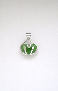Sea Glass Jewelry  Sterling Caged Green Sea Glass by SignetureLine, $65.00