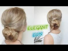 QUICK AND EASY HAIRSTYLE ELEGANT BUN | Awesome Hairstyles