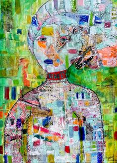 """Ardith's Art Journal: The Journal Speaks About Beauty """"If We Peeled the Layers"""" 3 feet by 4 feet mixed media on canvas by Ardith Goodwin"""