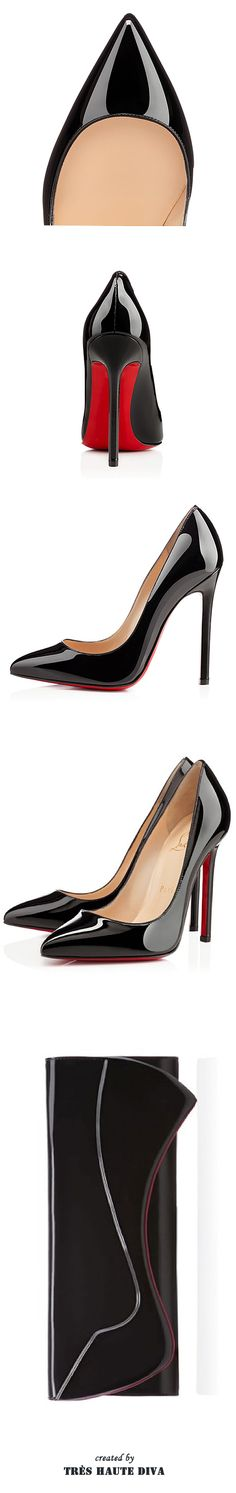 Christian Louboutin Pigalle Black Patent Leather Pump & Clutch ♔THD♔