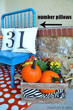 5 Tips to Creating a Beautiful Fall Porch -- Tatertots and Jello #DIY #Fall