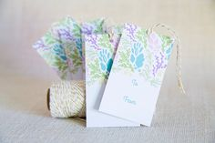 Handdrawn Floral Gift Tags by FMCstudio. Set of 5.