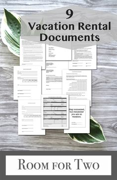 Ultimate Vacation Rental Welcome Book Template Rental Forms 10 Item Package Instant