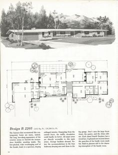 Vintage House Plans Mid Century Homes 1960s Homes Dream House