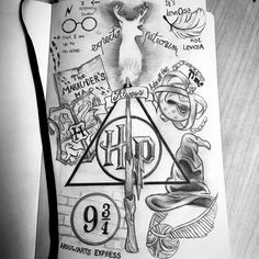 17 New Ideas For Tattoo Harry Potter Facts Harry Potter Fan Art, Harry Potter Journal, Harry Potter Kunst, Harry Potter Sketch, Images Harry Potter, Harry Potter Thema, Mundo Harry Potter, Harry Potter Drawings, Harry Potter Quotes