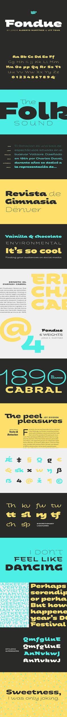 Fondue - 30% off!. Display Fonts. $69.00