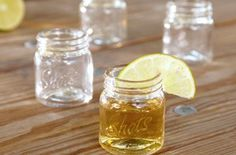 Mason jar shot glasses. Adorable and country-chic.