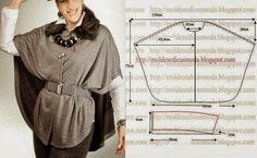 CAPA SIMPLES DE CORTAR - Moldes Moda por Medida