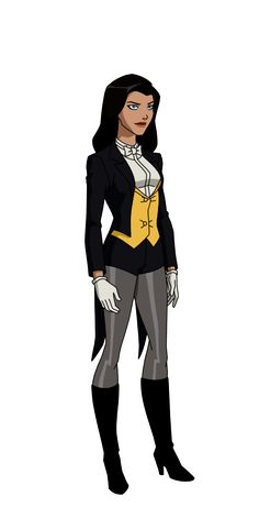 Zatanna from Young Justice. Young Justice League, Justice League Unlimited, Black Canary, Catwoman, Dc Animated Series, Zatanna Cosplay, Super Heroine, Wonder Woman, Dc Comics Characters