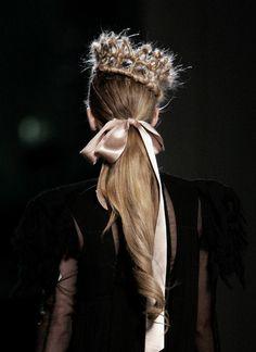 Runway hair.