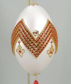 ✯✿ Red Chevron Ornament, Jeweled Chevron, Swarovski Chevron, Chevron Decor, Gift Idea, http://etsy.me/2eNYI9R