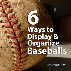 6 ways to display and organize baseballs - unique baseball display ideas for kid's rooms! - Living room and Decorating Baseball Crafts, Baseball Boys, Baseball Party, Baseball Season, Baseball Stuff, Boy Room, Kids Room, Baseball Display, America's Pastime