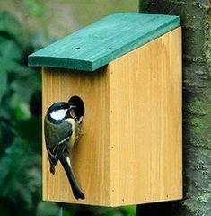 maison oiseaux a fabriquer | MAISON NICHOIR EN BOIS PERCHOIR MANGEOIRE A OISEAU…