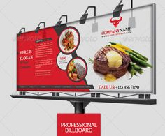 In this collection we share signage design templates (Billboard & Roll Up Banner ) for any restaurants. Some files are Indesign or Photoshop (PSD). Restaurant Advertising, Restaurant Branding, Beauty Business Cards, Cool Business Cards, Signage Design, Flyer Design, Free Printable Business Cards, Food Web Design, Roll Up Design