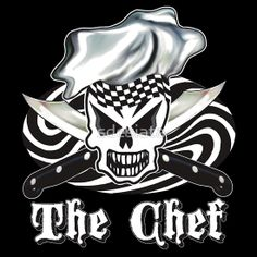 Skull Chef T-Shirt, available in hoodies as well!