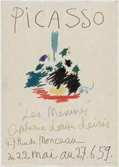 "Pablo Picasso. Picasso, ""Les Menines,"" Galerie Louise Leiris. 1959"