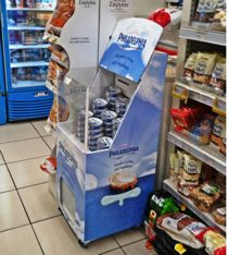 First renting roll-out for Greece. Mondelez is promoting their Philadelphia Cheese through the Freshboard Open-Top in 25 supermarkets, over a period of 3 months.