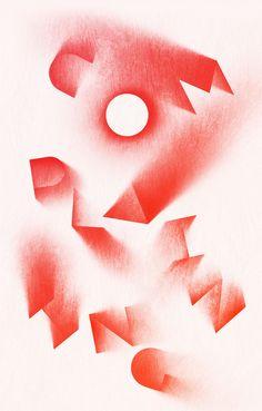 Sawdust (the creative partnership of Jonathan Quainton and Rob Gonzalez), typographic illustration. Graphic Design Posters, Graphic Design Typography, Graphic Design Illustration, Graphic Designers, Type Posters, Design Graphique, Art Graphique, Buch Design, Design Art