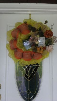Golden Yellow Mother's Day Keepsake Deco Mesh Wreath by MisSuenos, $38.00
