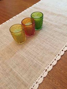 Caminos Para Mesas! Arpillera Y Crochet!  - $ 250,00