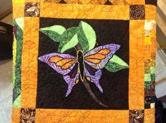 Butterfly appliqué quilt block