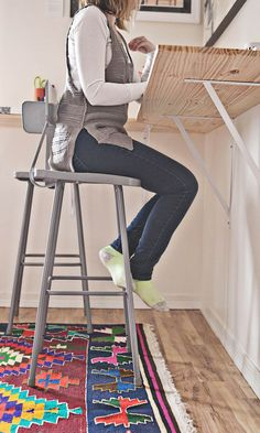 BUILDING A STANDING DESK, via #ABeautifulMess