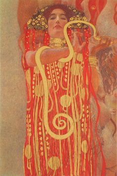 Klimt University of Vienna Ceiling Paintings: these paintings were considered too erotic so they were not displayed publicly. Klimt painted them for the University of Vienna. Klimt, Online Wall Art, Art Reproductions, Painting, Ceiling Painting, Snake Painting, Klimt Paintings, Paintings Art Prints, Hygeia