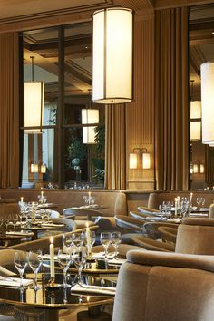 "The restaurant ""Girafe"", it's incredible interior design project by the French star architect, Joseph Dirand."