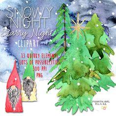 Watercolor Gnome Clipart Gnome Clipart Christmas Gnome