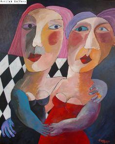 L'élégance des veuves - 100x80 cm