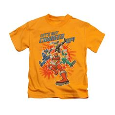 Power Rangers - Charged Up Kids Short Sleeve T-Shirt (Ages 4-7)